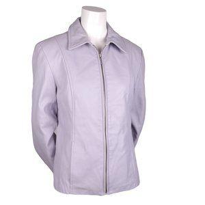 DANIER Lilac Purple Leather Jacket Coat - Sz S EUC